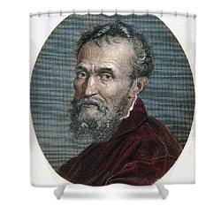 Michelangelo (1475-1564) Shower Curtain by Granger