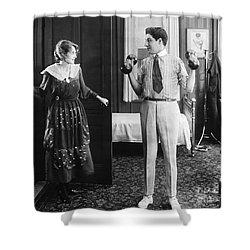 Silent Still: Exercise Shower Curtain by Granger
