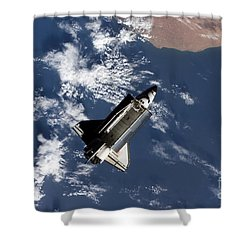 Space Shuttle Atlantis Shower Curtain by Stocktrek Images