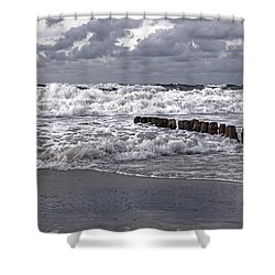 Kampen - Sylt Shower Curtain by Joana Kruse