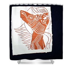 Guardian Angel Shower Curtain by Gloria Ssali