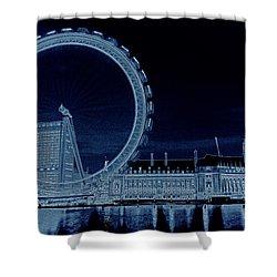 London Eye Art Shower Curtain by David Pyatt