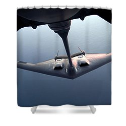A B-2 Spirit Bomber Conducts Shower Curtain by Stocktrek Images