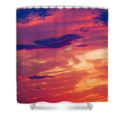 A Colorful Sky Shower Curtain by Carson Ganci