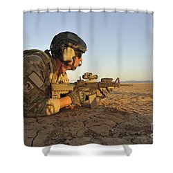 A Combat Rescue Officer Provides Shower Curtain by Stocktrek Images