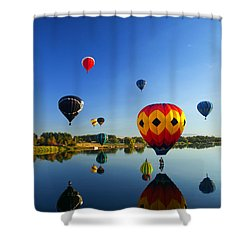 A Dozen  Reflected Shower Curtain by Mike  Dawson