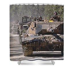 A German Designed Leopard As1 Gun Tank Shower Curtain by Stocktrek Images