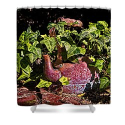 A Kettle Of Greens Shower Curtain by Christopher Holmes