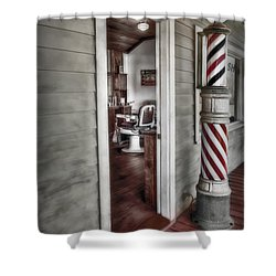 A Look Into The Past Shower Curtain by Susan Candelario