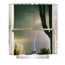 A Moment In Time Rustic Barn Picture Window View Shower Curtain by James BO  Insogna