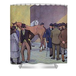 A Morning At Tattersall's Shower Curtain by Robert Polhill Bevan