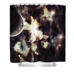 A Parallel Universe So Thin Youre Able Shower Curtain by Tomasz Dabrowski