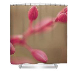 A Tentative Touch Shower Curtain by Laurie Search