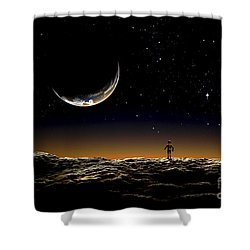 A Thin Veil Of Gaseous Material Shower Curtain by Frank Hettick