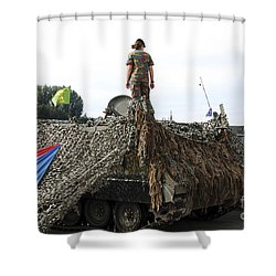 A Unit Of The 2nd Regiment Field Shower Curtain by Luc De Jaeger
