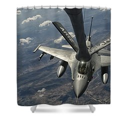 A U.s. Air Force F-16c Block 50 Shower Curtain by Giovanni Colla
