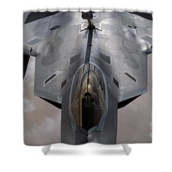A U.s. Air Force F-22 Raptor Shower Curtain by Stocktrek Images