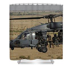 A U.s. Air Force Hh-60 Pavehawk Flies Shower Curtain by Stocktrek Images