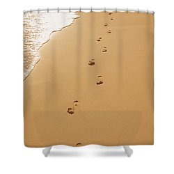 A Walk On The Beach Shower Curtain by Don Hammond