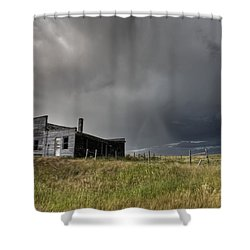 Abandoned Farmhouse Saskatchewan Canada Shower Curtain by Mark Duffy