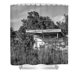 Abandoned Shower Curtain by Lynn Palmer