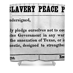 Abolitionist Peace Pledge Shower Curtain by Granger