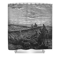 Abraham Entering Canaan Shower Curtain by Granger