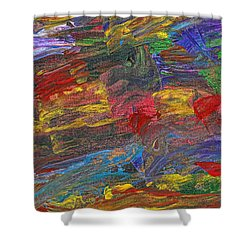 Abstract - Acrylic - Anger Joy Stability Shower Curtain by Mike Savad