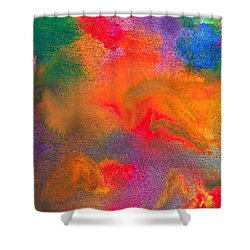 Abstract - Crayon - Melody Shower Curtain by Mike Savad