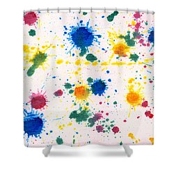 Abstract - Gesso And Food Color - My New Carpet Shower Curtain by Mike Savad