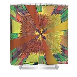 Abstract 4 Shower Curtain by Deborah Benoit