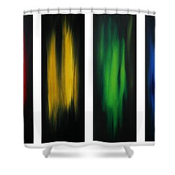 Abstract Art Colorful Original Painting Winter Passion By Madart Shower Curtain by Megan Duncanson