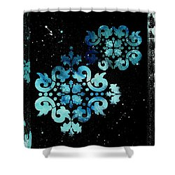 Abstract Art Original Decorative Painting Mysterious By Madart Shower Curtain by Megan Duncanson
