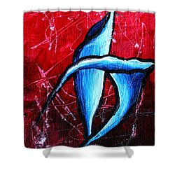 Abstract Calla Lilly Textured Painting Greeting Lillies By Madart Shower Curtain by Megan Duncanson