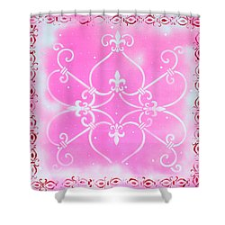Abstract Decorative Art Original Painting Pink Fantasy By Madart Shower Curtain by Megan Duncanson