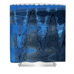 Abstract Flying Trees Shower Curtain by Colette V Hera  Guggenheim