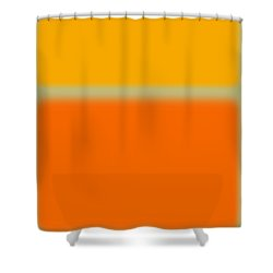 Abstract Orange And Yellow Shower Curtain by Naxart Studio