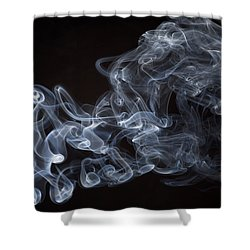 Abstract Smoke Running Horse Shower Curtain by Setsiri Silapasuwanchai
