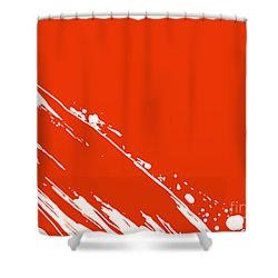 Abstract Swipe Shower Curtain by Pixel Chimp