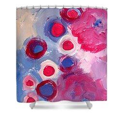 Abstract Vi Shower Curtain by Patricia Awapara