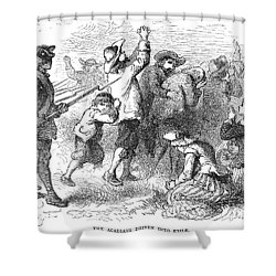 Acadian Expulsion, 1775 Shower Curtain by Granger
