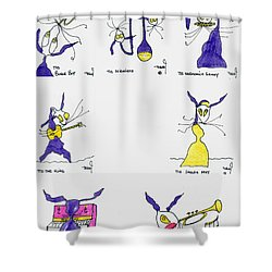 Aceo 7 Shower Curtain by Tis Art