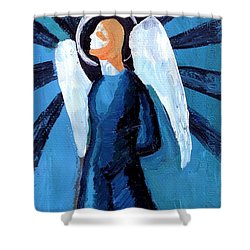 Adrongenous Angel Shower Curtain by Genevieve Esson