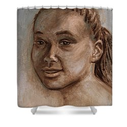 African American 2 Shower Curtain by Xueling Zou