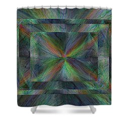 After The Rain 9 Shower Curtain by Tim Allen