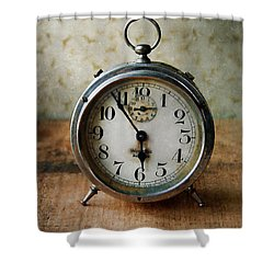 Alarm Clock Shower Curtain by Jill Battaglia