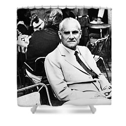 Alberto Moravia (1907-1990) Shower Curtain by Granger
