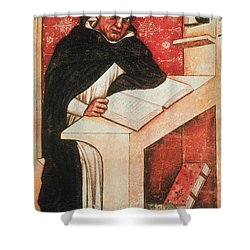 Albertus Magnus, Medieval Philosopher Shower Curtain by Photo Researchers
