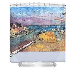 Albufera De Valencia 15 Shower Curtain by Miki De Goodaboom