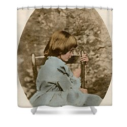 Alice Liddell, Alices Adventures Shower Curtain by Science Source